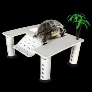 Basking Daratan untuk Aquarium Kura-kura Berbentuk Panggung